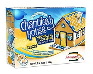 Happy Chanukah Vanilla Cookie House