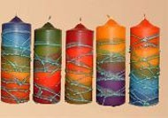Pillar Candles from Israel Large